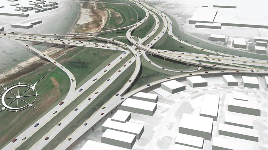 Kellogg I-235 interchange