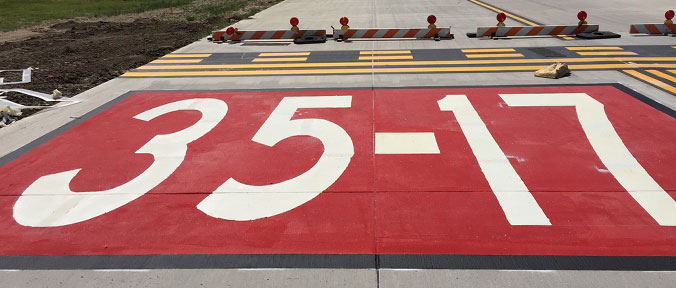 Airfield pavement marking services