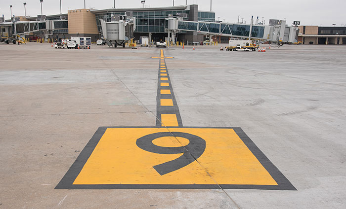 Airfield pavement markings