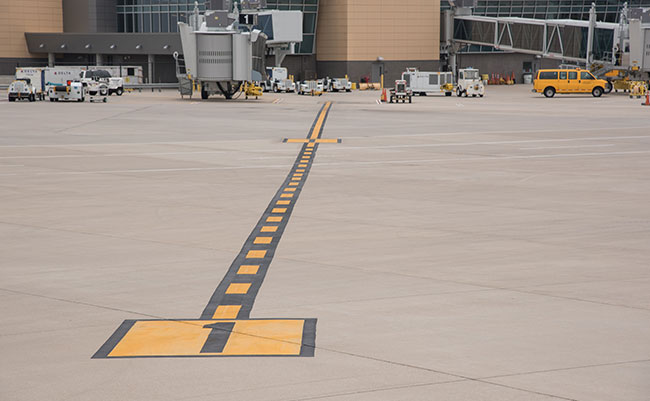 Airfield pavement marking
