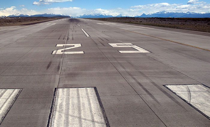 Airfield rubber removal
