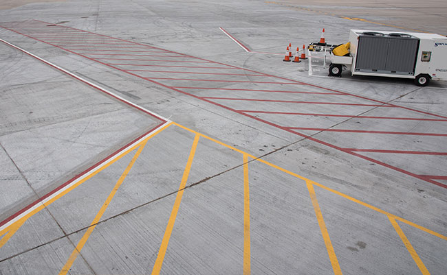Airfield pavement striping