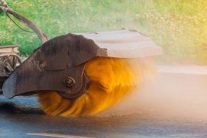 Clean asphalt