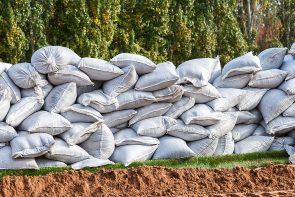 Sandbags for flood defense